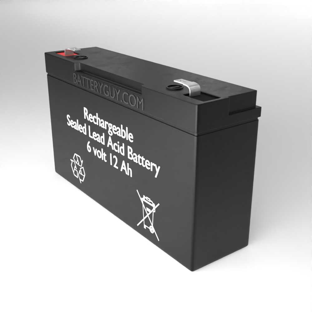 Right View - 6v 12Ah Rechargeable Sealed Lead Acid (Rechargeable SLA) Battery
