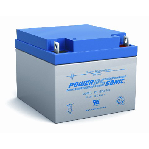 Power-Sonic PS-12260 F2 NB | SLA Battery 12v 26ah