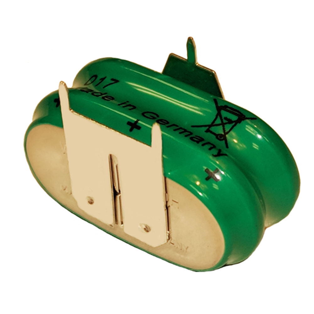 2/V150H 3P Varta (2+/1-) Memory Back UP 3 Pin NiMH Battery 2.4v 150mAh (Rechargeable)
