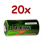 20 x 3v 1500 mah CR123A Lithium Cell Battery