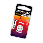 CR1616 Rayovac 1 Pack Lithium Batteries 3V 55mAh