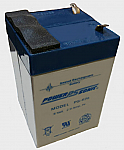 BG-E550 EKG MONITOR BATTERY (F2 Terminals) 12 volt 2.8 Ah SLA battery.