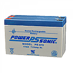 2 x Power-Sonic PS-670 | Rechargeable SLA Battery 6v 14Ah Emergency Light Battery