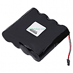 Alkaline Voting Machine Battery 12v 14400mah with Connector | BG-2001-596-Rev-E