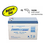 Power-Sonic PS-1270 F2 | Rechargeable SLA Battery 12v 7Ah
