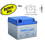 Power-Sonic PS-12260 NB | Rechargeable SLA Battery 12v 26Ah