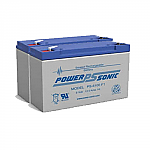 2 x Power-Sonic 6100 F1 | Rechargeable SLA Batteries 6v 24Ah Emergency Light Battery