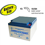 Power-Sonic PS-12260 F2 | Rechargeable SLA Battery 12v 26Ah