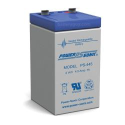 Power-Sonic PS-445 | Rechargeable SLA Battery 4v 4.5ah