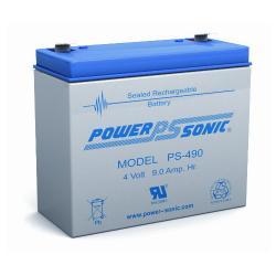 Power-Sonic PS-490 | Rechargeable SLA Battery 4v 9Ah