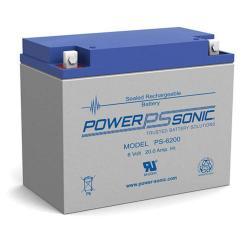 Power-Sonic PS-6200   Rechargeable SLA Battery 6v 20ah