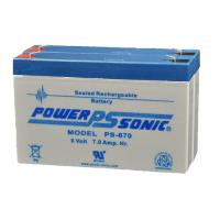 Power-Sonic PS-670(2P) | Rechargeable SLA Battery 6v 14Ah