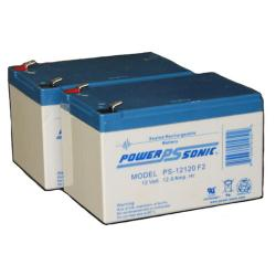 Power-Sonic PS-12120 F2 | Rechargeable SLA Battery 12v 12ah Set of 2