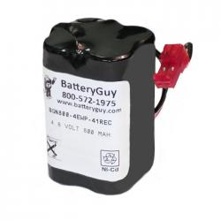 Nickel Cadmium Battery 4.8v 900mah | BGN800-4EWP-41REC (Rechargeable)