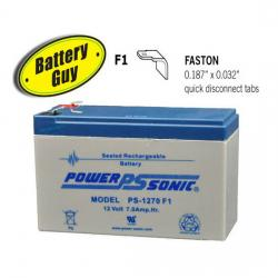 Power-Sonic PS-1270 F1 | Rechargeable SLA Battery 12v 7Ah