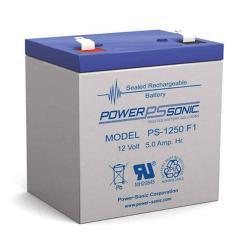 Power-Sonic PS-1250 F1   SLA Battery 12v 5Ah
