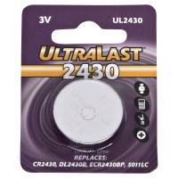 UltraLast UL2430 Lithium Coin Battery 3 Volt 270 mAh