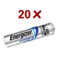 20 x L92 Ultimate Lithium Battery 1.5v