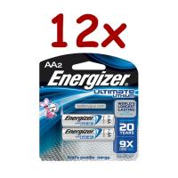 12 x L91 Ultimate Lithium AA Battery 1.5v (Blister pack of Two)