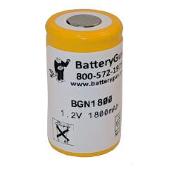 Nickel Cadmium Battery 1.2v 1800mah Button Top | BGN1800B (Rechargeable)
