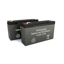 6v 12Ah High Rate Rechargeable Sealed Lead Acid Battery Set of Two