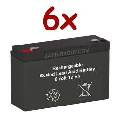 6v 12Ah High Rate Rechargeable Sealed Lead Acid Battery Set of Six
