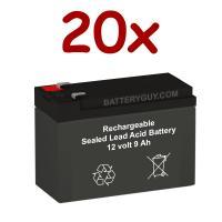 12V 9Ah Rechargeable Sealed Lead Acid High Rate Battery Set of Twenty