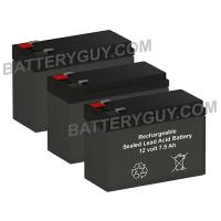 12v 7.5Ah Sealed Lead Acid High Rate Battery Set of Three