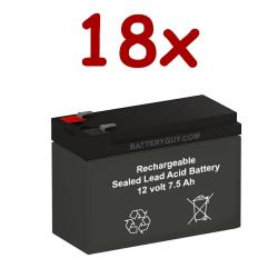 12v 7.5Ah Rechargeable Sealed Lead Acid High Rate Battery Set of Eightteen