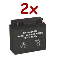 12v 18Ah Rechargeable Sealed Lead Acid High Rate Battery Set of Two
