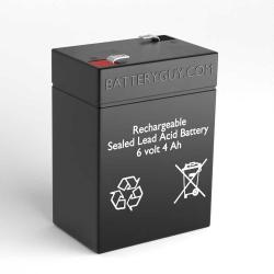 FirstPower FP645 6V 4.5Ah Replacement Battery with F1 Terminals