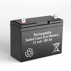 12v 100Ah Rechargeable Sealed Lead Acid Battery | BG-121000NB