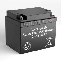 12v 26Ah Rechargeable Sealed Lead Acid (Rechargeable SLA) Battery   BG-12260NB
