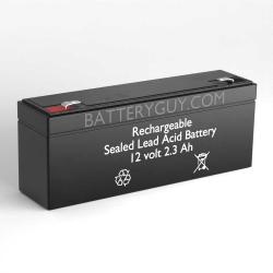 12v 2.3Ah Rechargeable Sealed Lead Acid (Rechargeable SLA) Battery | BG-1223