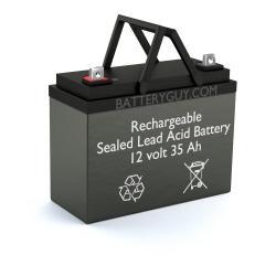 12v 35Ah Rechargeable Sealed Lead Acid (Rechargeable SLA) Battery   BG-12350NB