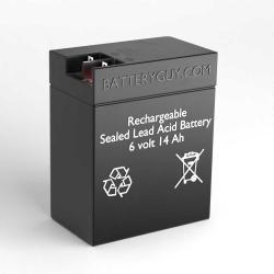 6v 14Ah Rechargeable Sealed Lead Acid (Rechargeable SLA) Battery | BG-6120FP