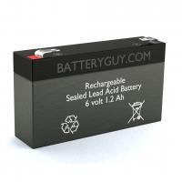 6v 1.2Ah Rechargeable Sealed Lead Acid (Rechargeable SLA) Battery   BG-612