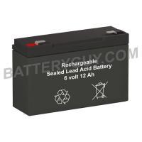 6v 12Ah Rechargeable Sealed Lead Acid (Rechargeable SLA) Battery | BG-6100F1