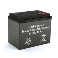 6v 36Ah Rechargeable Sealed Lead Acid Battery | BG-6360 F2