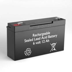 6v 12Ah Rechargeable Sealed Lead Acid (Rechargeable SLA) Battery - Bulk Discount