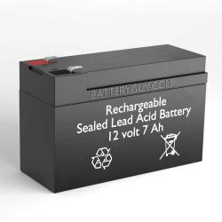 12v 7Ah Rechargeable Sealed Lead Acid (Rechargeable SLA) Battery F2 Terminals | BG-1270F2