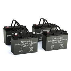 12v 35Ah Rechargeable Sealed Lead Acid (Rechargeable SLA) Battery Set of Four