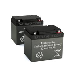 12v 40Ah Rechargeable Sealed Lead Acid (Rechargeable SLA) Battery   BG-12400NB (Qty of 2)