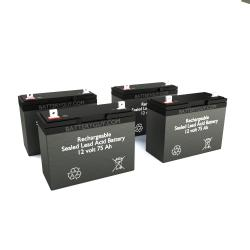12v 75Ah Rechargeable Sealed Lead Acid (Rechargeable SLA) Battery | BG-12750NB (Qty of 4)