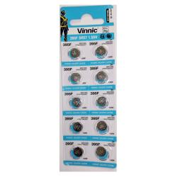 Vinnic 395F Silver Oxide Coin Battery (10 Pack) 1.55v 38.5mAh
