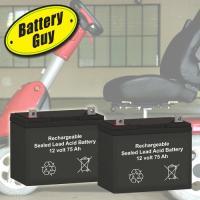 12v 75Ah Electric Wheelchair Batteries | BG-12750NB-W (Qty of 2)
