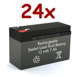 12v 7Ah Rechargeable Sealed Lead Acid (Rechargeable SLA) Battery F2 Terminals | BG-1270 F2 (Qty of 24)