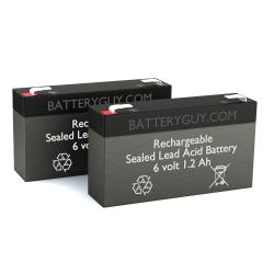 6v 1.2Ah Rechargeable Sealed Lead Acid (Rechargeable SLA) Battery | BG-612 (Qty of 2)