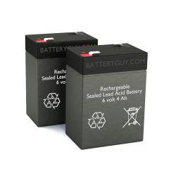 6v 4.0Ah Rechargeable Sealed Lead Acid Battery | BG-640 (Qty of 2)