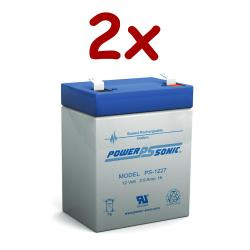Power-Sonic PS-1227 | Rechargeable SLA Battery 12v 2.9ah (Qty of 2)
